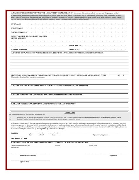 22321 lost passport form lost passport notification form immigration division