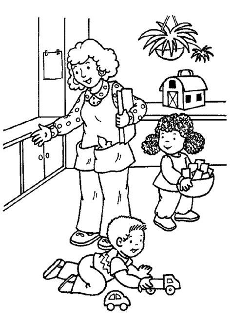 jeux de l ecole de cuisine de gratuit coloriage la crèche les enfants et leur maîtresse