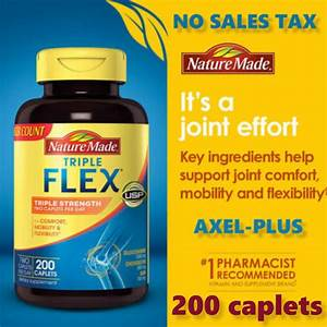 Nature Made Tripleflex Triple Strength  170 Caplets Glucosamine Chondroitin Msm
