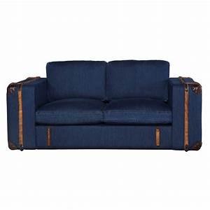 Sofa 2 3 Sitzer : sofa grena 2 sitzer in jeansstoff blau ~ Bigdaddyawards.com Haus und Dekorationen