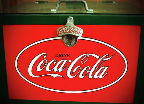 Vintage Coca-cola Fridge Shower Curtain For Sale By