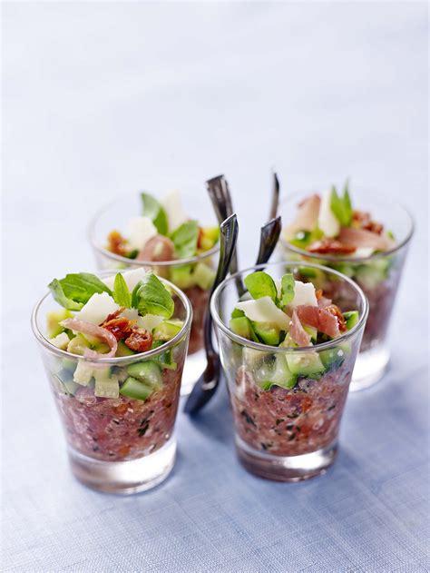 cuisine aoste verrines gourmandes à la courgette caviar de jambon cru