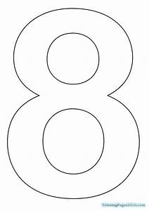 Number 8 Coloring Page | Coloring Pages For Kids