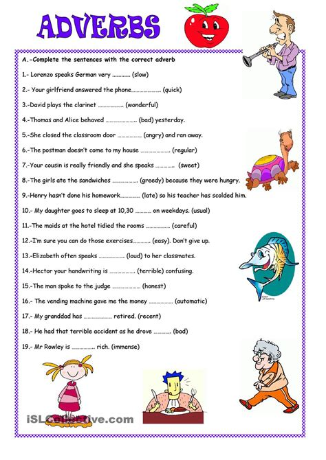 adverbs esl worksheet adverbs worksheet search adverbs