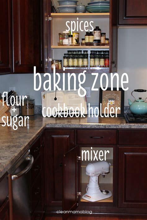 kitchen organization create zones clean