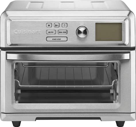 oven toaster cuisinart fryer air digital airfryer toa stainless steel silver ovens intuitive programming options range express lcd lifestyle buydig