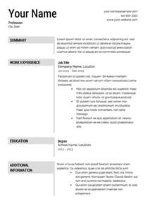 Free Templates Of Resumes Gallery For Gt Resume Templates Free