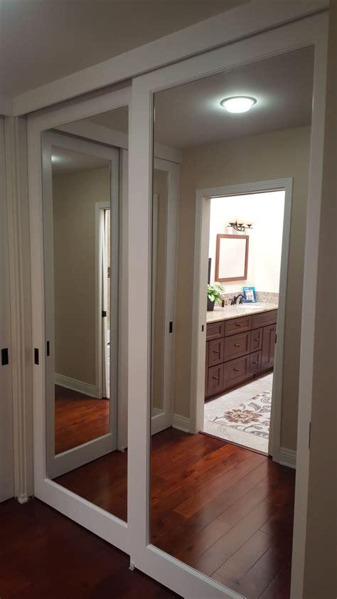 mirrored closet doors mirror closet doors closet door makeover sliding closet doors