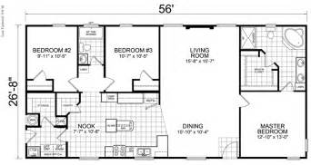 House Plans With And Bathroom Home 28 X 56 3 Bed 2 Bath 1493 Sq Ft House On The Trailer