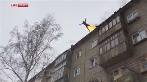 daring russian sets   fire  jumps