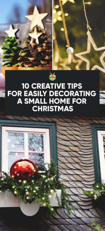 creative tips  easily decorating  small home