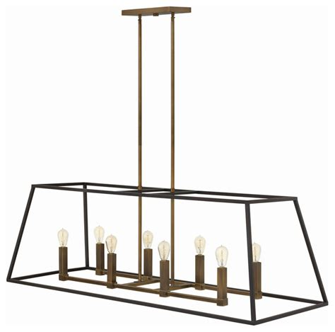 hinkley lighting 3338bz 8 lt rectangular foyer pendant