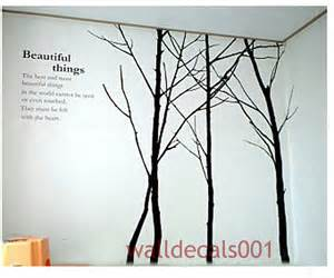 items similar to tree wall decal wall sticker winter tree decals living room decor bedroom decal