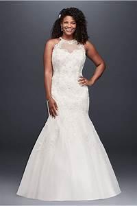 corset bodice mermaid lace plus size wedding dress david With david s bridal plus size wedding dresses