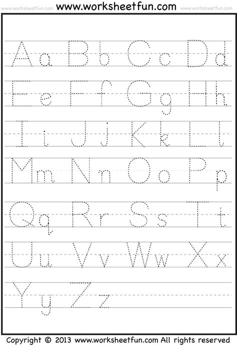 letter tracing activities
