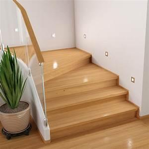 Treppenbeleuchtung Led Innen : led treppen licht treppenbeleuchtung eckig 8x8cm 230v wei 10 stk von ~ Sanjose-hotels-ca.com Haus und Dekorationen
