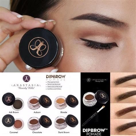 Dipbrow is best applied with an angled brow brush with short, stiff bristles. NEW Anastasia Beverly Hills Dipbrow Pomade Make Up Dip ...