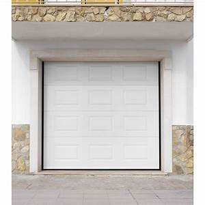 Porte de garage sectionnelle artens h200 x l240 cm for Porte garage artens