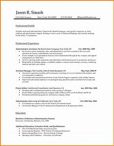 Word document resume template sample resume cover letter for Standard resume template word