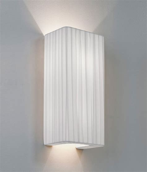 simple fabric wall light tall shade up down lighting