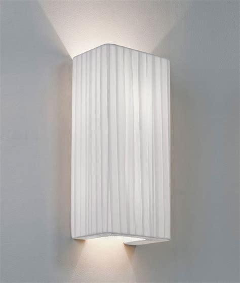simple fabric wall light shade up lighting