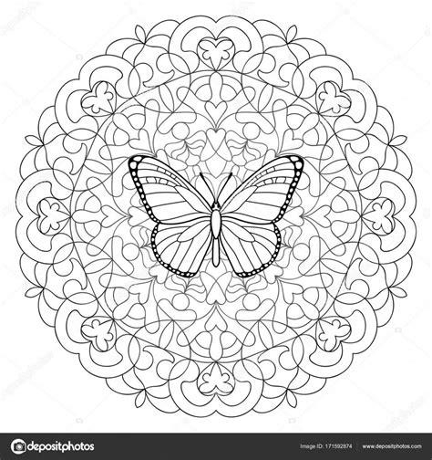 Volwassenen Kleurplaat Mandala Vlinder by Kleurplaten Vlinders Voor Volwassenen
