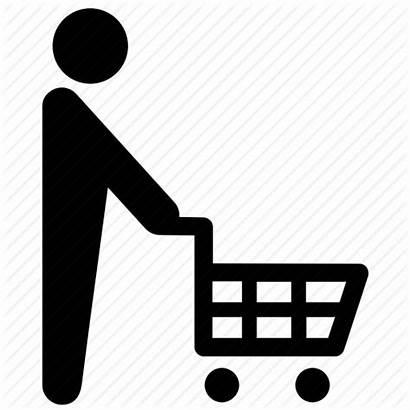 Shopping Grocery Icon Shopper Cart Icons Delivery