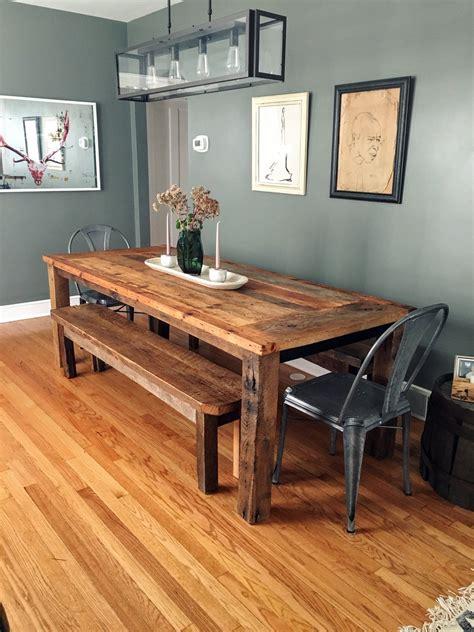 buy  custom reclaimed wood farmhouse dining table