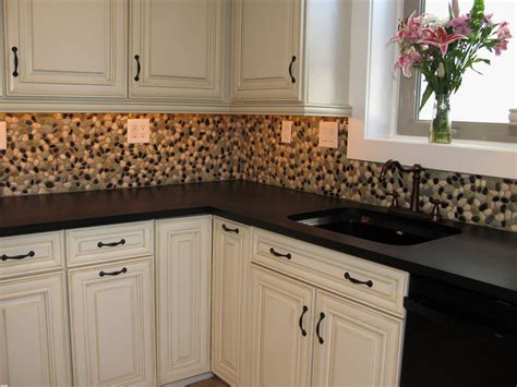 Awesome Stick On Tile Backsplash Kitchen  Gl Kitchen Design