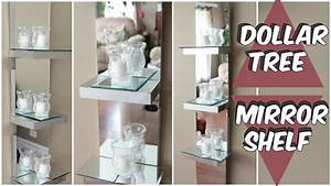 dollar tree mirror shelf d i y tutorial youtube diy home With kitchen cabinets lowes with dollar tree wall art
