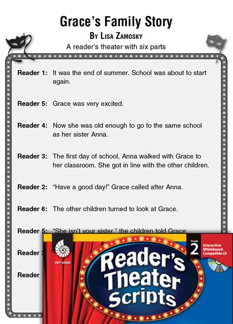 families graces family story readers theater script