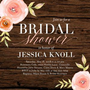 bridal shower invitation wording for 2018 shutterfly