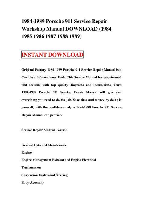 service repair manual free download 1984 pontiac firefly free book repair manuals 1984 1989 porsche 911 service repair workshop manual download 1984 1