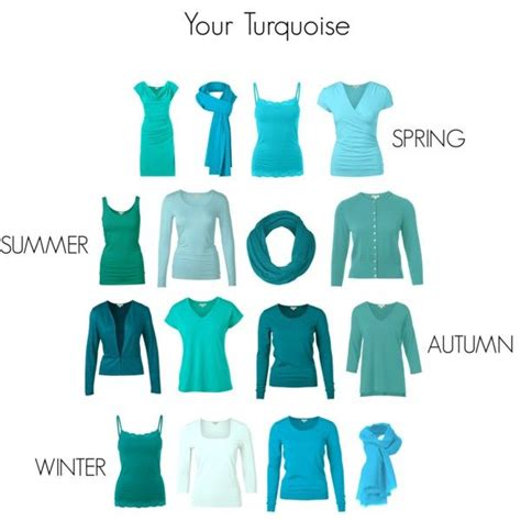 Palette Green All Seasons by Turquoise For All Seasons Tonal Colours Soft Summer