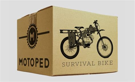 survival bike motoped zombie apocalypse bucks million miles range looks motorcycle without survial motorcycles autoevolution bicycle