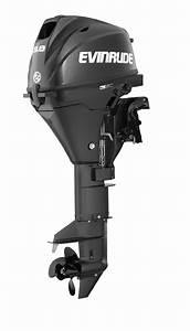 Evinrude Motor E10rg4  10 Hp  15 Shaft  Tiller Steering