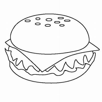 Coloring Cheeseburger Junk Pages Printable Appetizing Burger