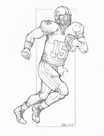 Coloring Football Pages Lsu Saints Player Tim