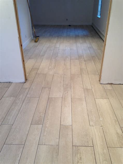 tile plank flooring after remodel hallway house design with ceramic tile flooring that looks like wood planks and