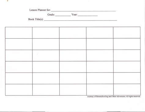 pin blank infant lesson plan template cake  pinterest