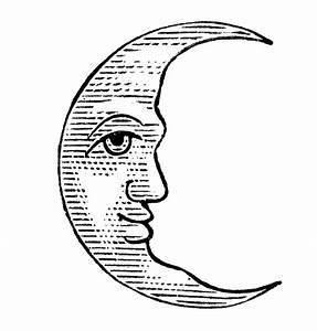 Crescent Moon Face Clipart - Clipart Suggest