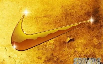 Nike Wallpapers Gold Symbol Logos Golden Sign