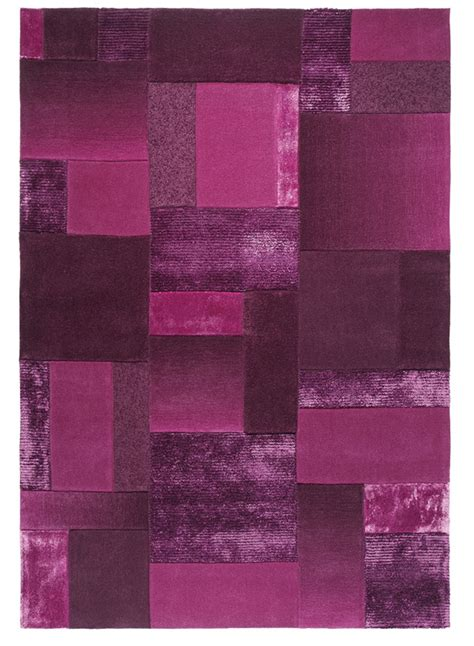 tapis salon contemporain patchwork violet de la collection esprit