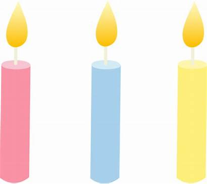 Candle Birthday Candles Clipart Clip Colored Velas