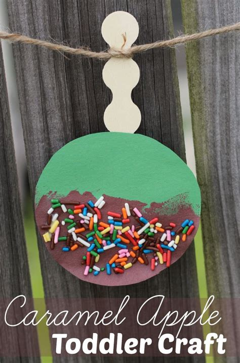 Caramel Apple Fall Craft For Toddlers + 50 More Fall