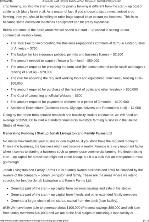 The question now is if you have a plan of starting your own goat farming business. Download Goat Farming Business Plan Template Free Download for Free | Page 14 - FormTemplate