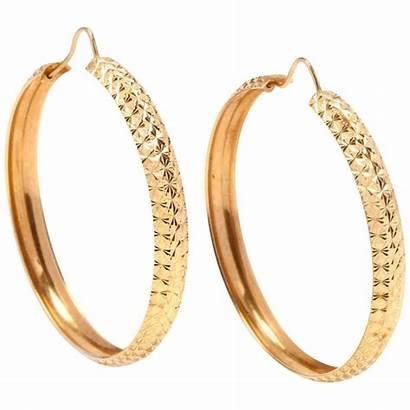 Earrings Hoop Gold Karat Jewelry 1stdibs