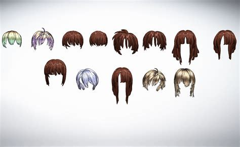 MMD Hair Front Pack 5 by amiamy111 on DeviantArt
