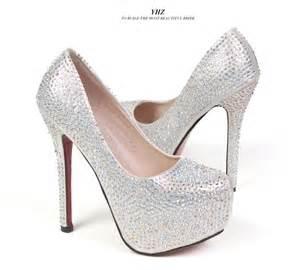 Quinceanera Silver High Heels