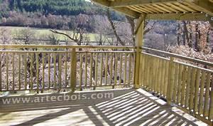 Balustrade En Bois : artecbois terrasses en bois et amenagements exterieurs en ~ Melissatoandfro.com Idées de Décoration